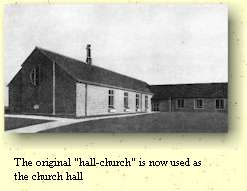 "The original ""hall-church"" is now used as the church hall"